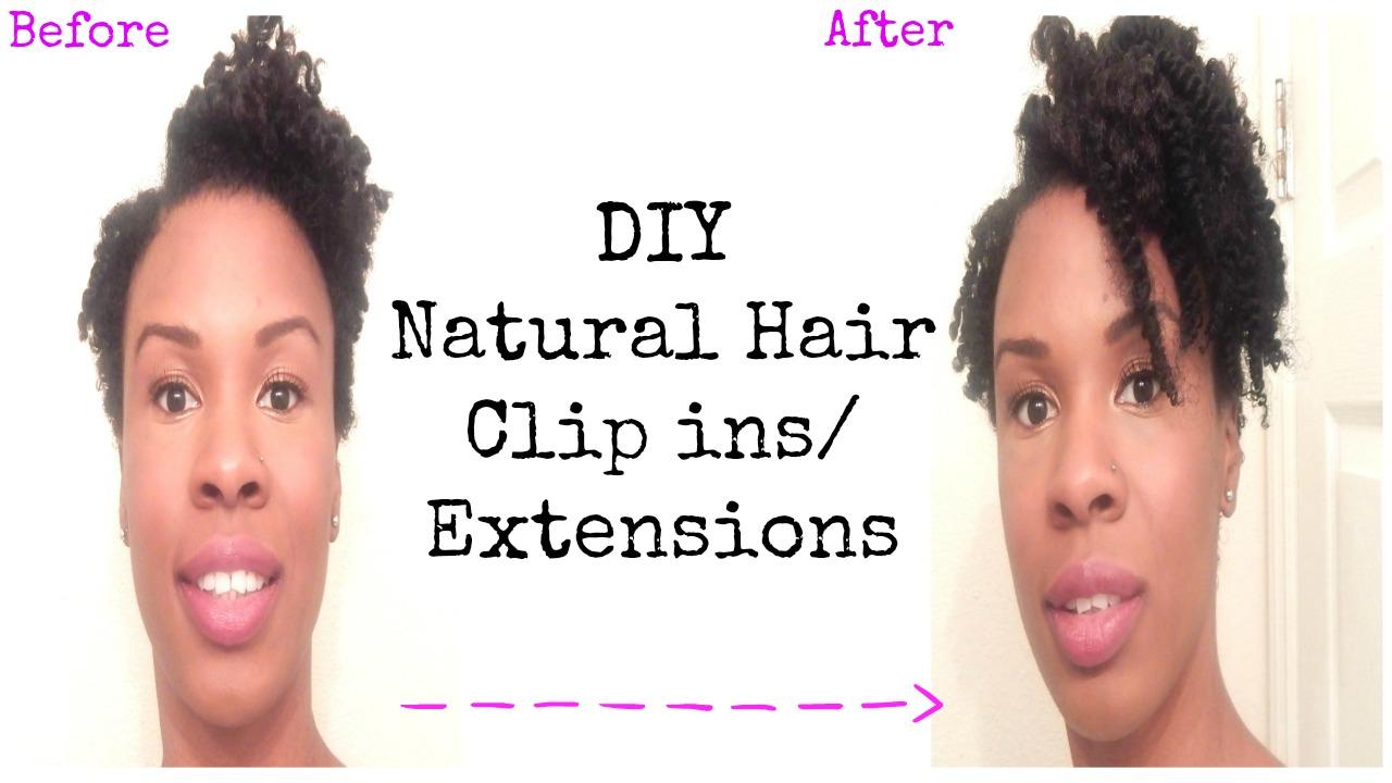 Diy Natural Hair Clip Ins Extensions 4b4c Tapered Twa Crafts